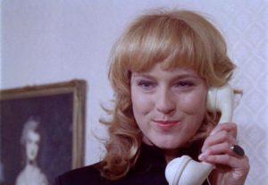 Christa Lang as femme fatale Christa in Sam Fuller's Dead Pigeon on Beethoven Street (1972)