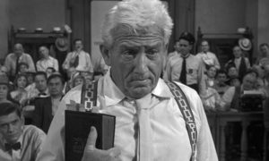 Spencer as Henry Drummond, the voice of science and reason in Stanley Kramer's Inherit the Wind (1960)