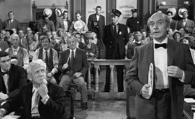 Two Hollywood Titans acting up a storm: Spencer Tracy and Frederic March in Stanley Kramer's Inherit the Wind (1960)