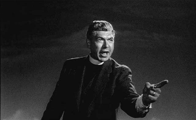 Claude Akins condemning his own daughter to Hellfire in Stanley Kramer's Inherit the Wind (1960)