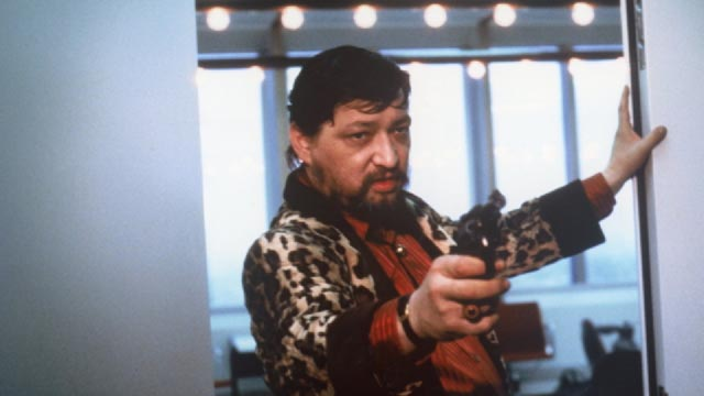 Police Inspector Jensen's preferred way to enter a room: Rainer Werner Fassbinder in Wolf Gremm's Kamikaze '89 (1982)