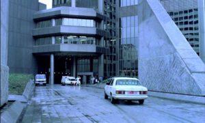 Modern architecture represents a bleak future in Wolf Gremm's Kamikaze '89 (1982)
