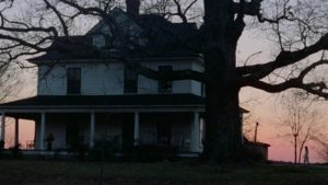 The pastoral opening shot of Frederick R. Friedel's Axe (1974): an illusion of peace concealing horrors to come