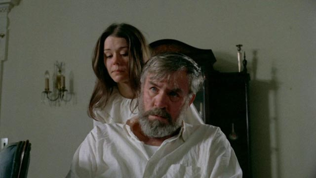 Lisa (Leslie Lee) tends to her helpless grandfather (Douglas Powers) in Frederick R. Friedel's Axe (1974)