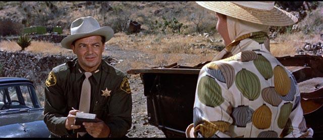 Cornel Wilde and Virginia Shaw meet cute in Don Siegel's Edge of Eternity (1959)