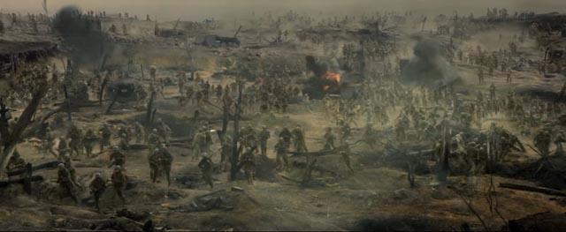 The Hellish landscape of the Battle of Okinawa in Mel Gibson's Hacksaw Ridge (2016)
