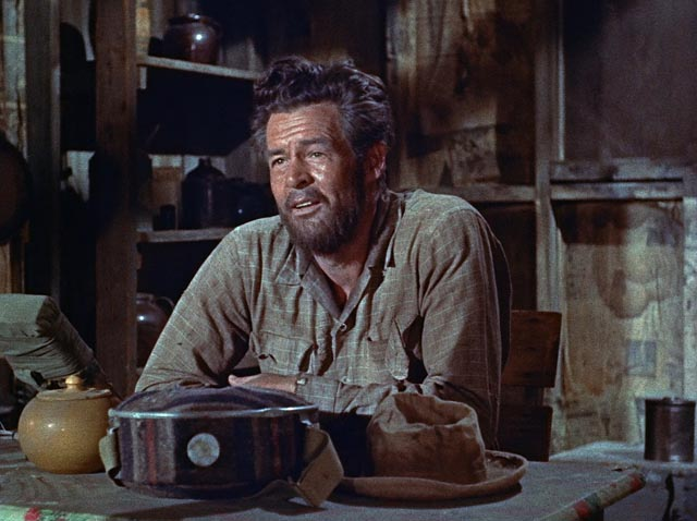 Surviving gives Carson (Robert Ryan) a whole new perspective on what's important in life in Roy Ward Baker's Inferno (1953)