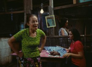 Insiang's bitter mother (Mona Lisa) berates her relatives in Lino Brocka's Insiang (1976)