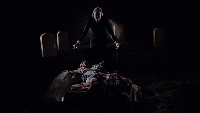 The Tall Man (Angus Scrimm) invades Mike's (A. Michael Baldwin) dreams: Don Coscarelli's Phantasm (1979)