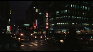 Night on the streets of Taipei in Edward Yang's Taipei Story (1985)