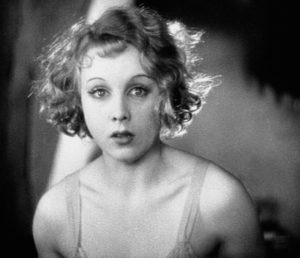 Anny Ondra as Alice White, traumatized by the murder she has committed in Alfred Hitchcock's Blackmail (1929)