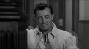 Robert Mitchum at his reptilian best as ex-con Max Cady in J. Lee Thompson's Cape Fear (1961)