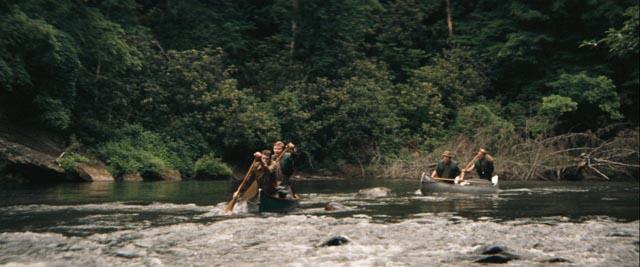 A wild river sets a challenge for civilized city men in John Boorman's Deliverance (1972)