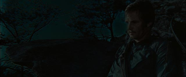 What the hell? The worst day-for-night image in the history of Hollywood from John Boorman's Deliverance (1972)