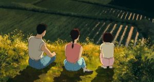 An idyllic moment in Isao Takahata's sweetly contemplative Only Yesterday (1991)