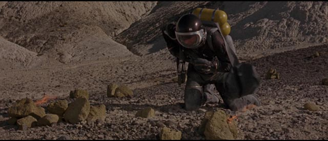 Astronaut Kit Draper, stranded far from home in Byron Haskin's Robinson Crusoe on Mars (1964)