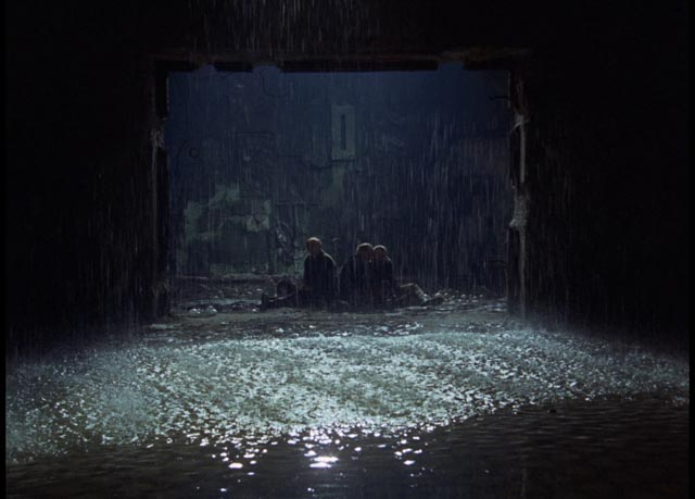 The Stalker, the Writer and the Professor on the threshold to the Room in Andrei Tarkovsky's Stalker (1979)