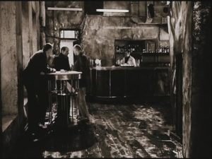 The Professor, the Writer and the Stalker prepare to enter into the Zone in Andrei Tarkovsky's Stalker (1979)