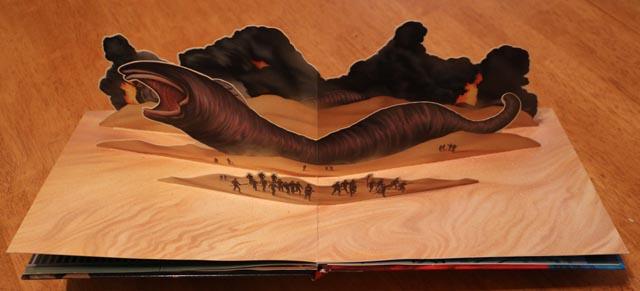 Pop-up sandworm on Arrakis