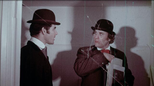 Allan Berendt (l) as scientist Lawrence Orlovsky, a man with a troubled heritage in Andy Milligan's Blood (1973)