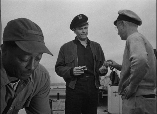 Harry Morgan's (John Garfiled) money troubles are established early in Michael Curtiz's The Breaking Point (1950)