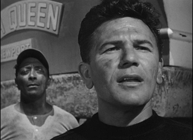Wesley (Juano Herhandez) and Harry face an uncertain future in Michael Curtiz's The Breaking Point (1950)