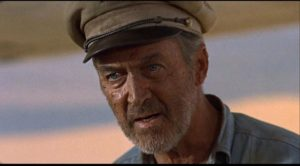 James Stewart as self-doubting pilot Frank Towns in Robert Aldrich's The Flight of the Phoenix (1965)