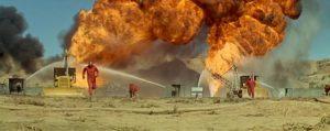 A sepctacular oil field blaze in Andrew V. McLaglen's Hellfighters (1968)
