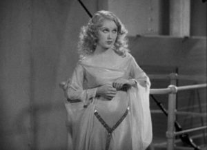 """Fay Wray as Ann Darrow being prepared to meet the """"tallest, darkest leading man"""" in movie history in Merian C. Cooper and Ernest B. Schoedsack's King Kong (1933)"""
