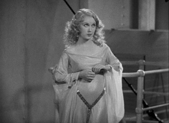 "Fay Wray as Ann Darrow being prepared to meet the ""tallest, darkest leading man"" in movie history in Merian C. Cooper and Ernest B. Schoedsack's King Kong (1933)"