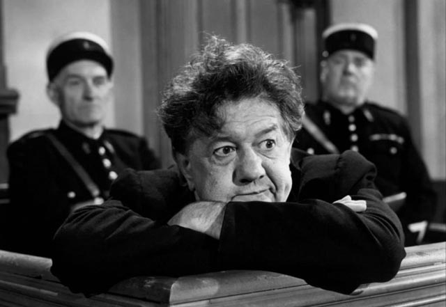Paul Louis Victor Braconnier (Michel Simon) views the justice system with disdain in Sacha Guitry's La poison (1951)