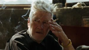 """David Lynch with his ubiquitous cigarette, integral prop for """"the art life"""" in David Lynch: The Art Life (2016)"""