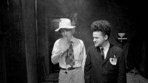 Lynch on the set of Eraserhead with Jack Nance in David Lynch: The Art Life (2016)