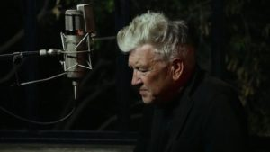 Lynch recording the stories of his childhood and the evolution of his art in David Lynch: The Art Life (2016)