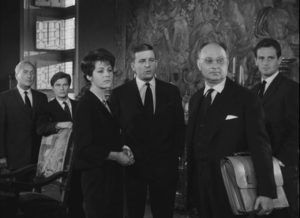 The Kerloquen cousins gather for what they hope is a reading of the will in Georges Franju's Plein feux per l'assassin (1961)
