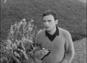 Jean-Marie (Jean-Louis Trintignant), the relatively nice cousin in Georges Franju's Plein feux per l'assassin (1961)