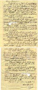 Letter from Jack Nance