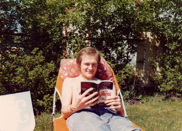 Kenneth George Godwin in his mother's back yard in Neepawa, Summer 1976