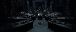 Antarctic explorers discover the sacrificial chamber where aliens are bred in Paul W.S. Anderson's AVP: Alien vs Predator (2004)