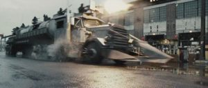 The Dreadnaught is unleashes on Terminal Island's inmate drivers in Paul W.S. Anderson's Death Race (2008)