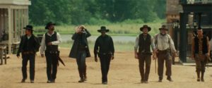 Actors playing at cowboys in Antoine Fuqua's The Magnificent Seven (2016)