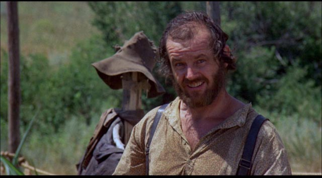 Jack Nicholson as easy-going rustler Tom Logan in Arthur Penn's The Missouri Breaks (1976)