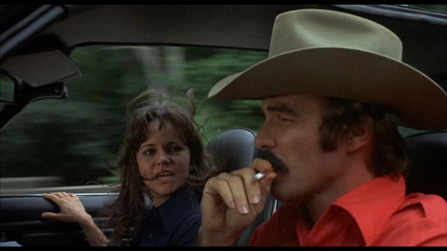 It's more about the cars than the romance in Hal Needham's chase comedy Smokey and the Bandit (1977)