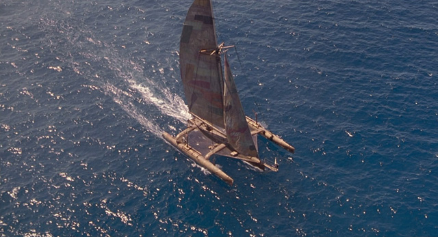 The Mariner's trimaran in Kevin Reynolds' sci-fi epic Waterworld (1995)