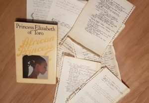 Princess Elizabeth's book and some of the notes I made towards an adaptation