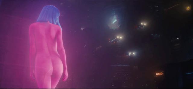 ... evolves into Blade Runner 2049's softcore advertising