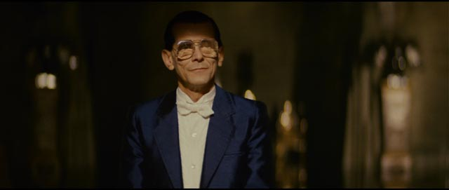Tyrell (Joe Turkel) is a sophisticated, morally blind entrepreneur in Ridley Scott's Blade Runner (1982) ...