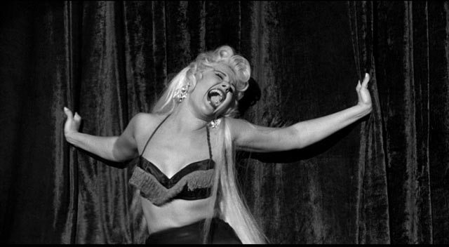 Never one to shy away from the crass, Sam Fuller opens The Crimson Kimono (1959) with a burlesque show