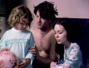 Mike with wife Christina and their daughter in Robert Kaylor's Derby (1971)
