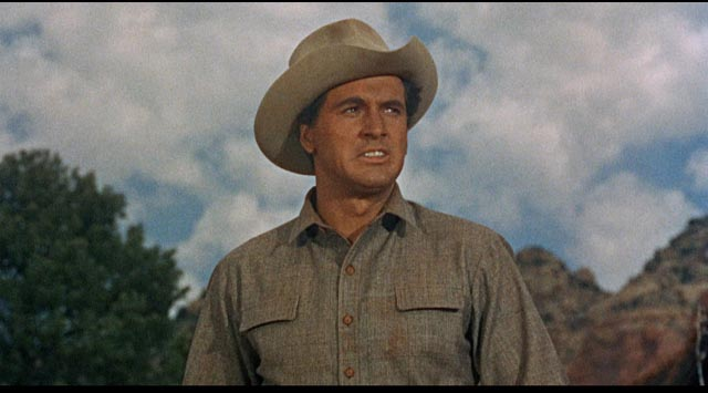 Rock Hudson as stalwart hero Ben Warren in Raoul Walsh's Gun Fury (1953)